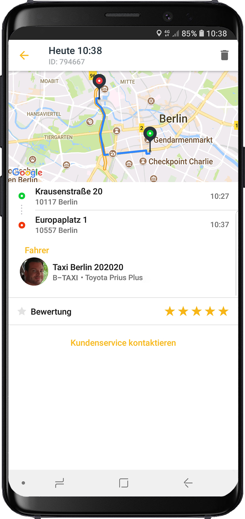 taxi eu - The taxi app for Europe